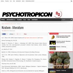 Kratom – literature – Psychotropicon - Das Online-Magazin für Psychonauten
