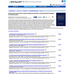 PsycNET - Browse PsycBOOKS
