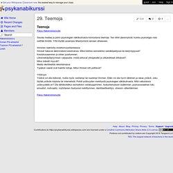 psykanabikurssi - 29. Teemoja