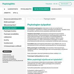 Psykologien työpaikat - Suomen Psykologiliitto ry