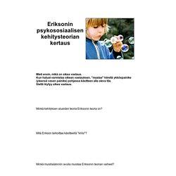 Eriksonin psykososiaalisen kehitysteorian kertaus