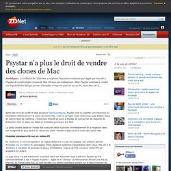Psystar n'a plus le droit de vendre des clones de Mac - Actualit