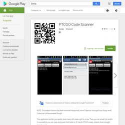 PTCGO Code Scanner - App Android su Google Play
