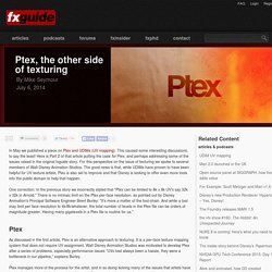 Ptex, the other side of texturing