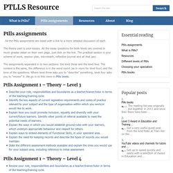 Ptlls assignments | PTLLS Resource