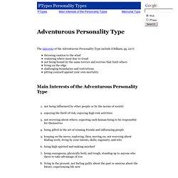 Adventurous Personality Type