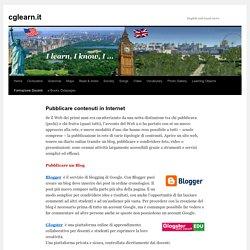 Pubblicare contenuti in Internet