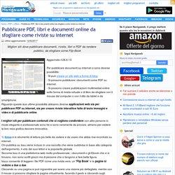 Pubblicare PDF, libri e documenti online da sfogliare come riviste su internet