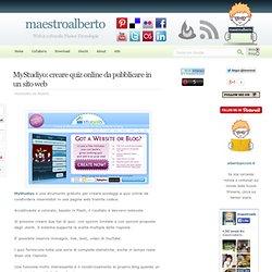 MyStudiyo: creare quiz online da pubblicare in un sito web