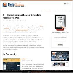 4 (+1) modi per pubblicare racconti online