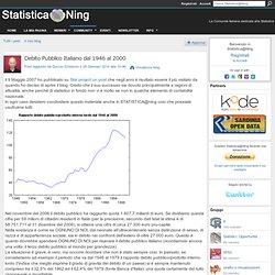 Debito Pubblico Italiano dal 1946 al 2000 - Statistica@Ning