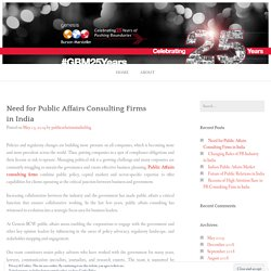 Need for Public Affairs Consulting Firms in India