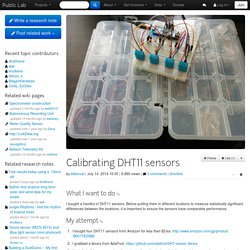 Public Lab: Calibrating DHT11 sensors