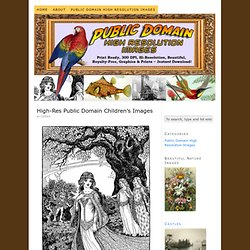 High-Res Public Domain Children's Images — Public Domain High Resolution Images