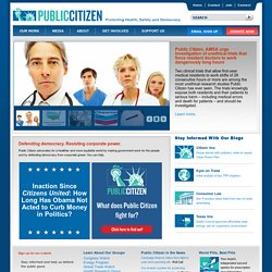 Public Citizen Home Page