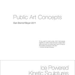 Public Art Concepts - Dan Sternof Beyer 2011