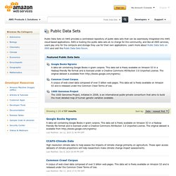 AWS Public Data Sets