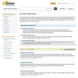 AWS Public Data Sets