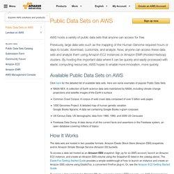Public Data Sets on AWS