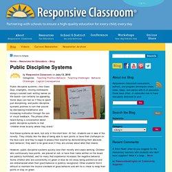 Public Discipline Systems