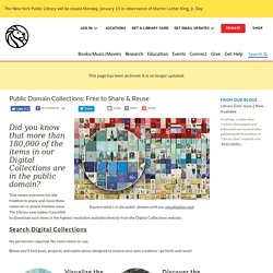 Public Domain Collections: Free to Share & Reuse