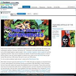Public Domain Super Heroes