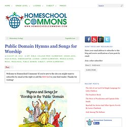 Public Domain Hymns and Songs for Worship