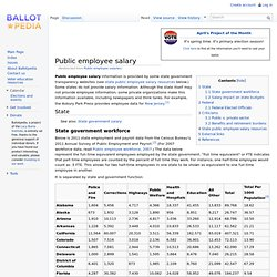Public employee salary