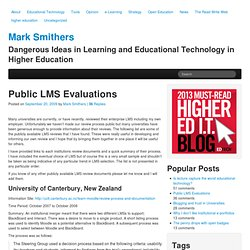 Public LMS Evaluations