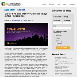 Eid-al-Fitr and Other Public Holidays in the Philippines