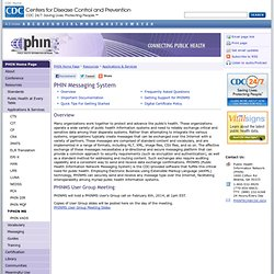 Public Health Information Network (PHIN) - PHIN MS