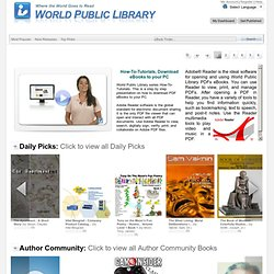 World Public Library - Site Map