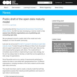 Public draft of the open data maturity model
