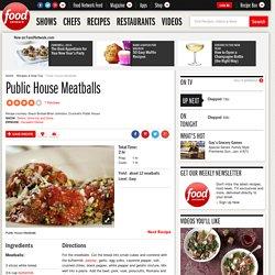 Public House Meatballs Recipe