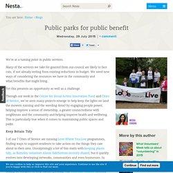 Public parks for public benefit