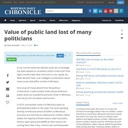 Value of public land lost of many politicians