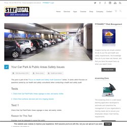 Your Car Park & Public Areas Safety Issues - DDS International