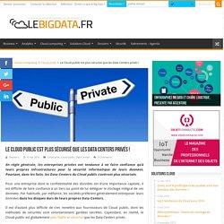 Le Cloud public est plus sécurisé que les Data Centers privés !