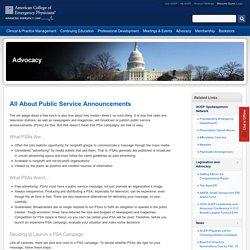All About Public Service Announcements // ACEP