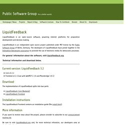 Public Software Group e. V. · LiquidFeedback