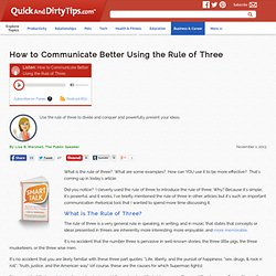 How to Communicate Better Using the Rule of Three