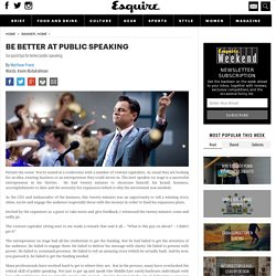 How public speaking can affect your business