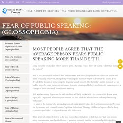 Fear Of Public Speaking (Glossophobia) in North Shore, Sydney