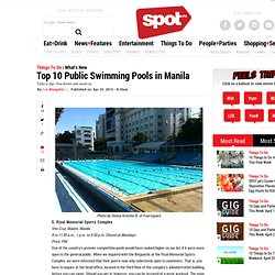 Top 10 Public Swimming Pools in Manila