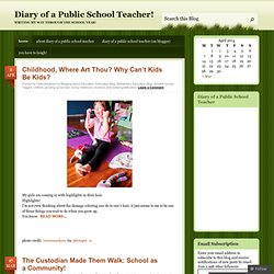 Diary of a Public School Teacher!