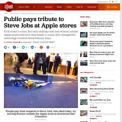 Public pays tribute to Steve Jobs at Apple stores