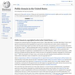 Public domain in the United States