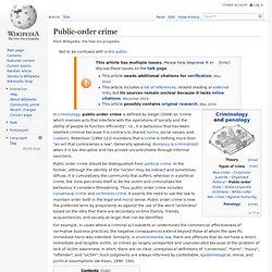 Public-order crime