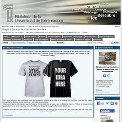 Plagio y ética en la publicación científica (UNEX)