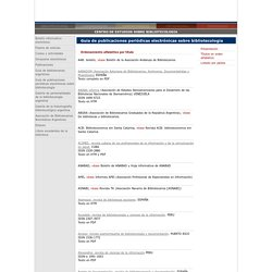 Guia de publicaciones periodicas en linea sobre bibliotecologia